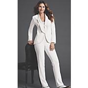 elegant 2 pc  white pantsuit