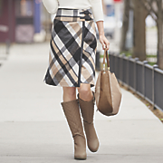 plaid wrap skirt 217