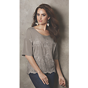 tawny embroidered top