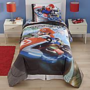 super mario road rumble comforter and sheet set