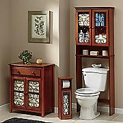 metal scrolled bathroom furniture