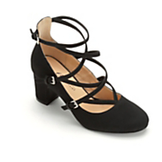 strappy buckle shoe by midnight velvet