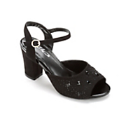 chunky heel sandal by midnight velvet