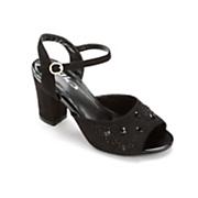 chunky heel sandal by midnight velvet