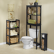 black scroll bathroom furniture