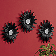 set of 3 sunburst mirrors 198