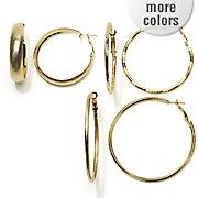 3 pair hoop set 121