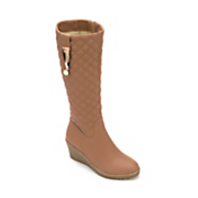 quilted wedge boot by midnight velvet