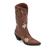 embroidered cowgirl boot by midnight velvet