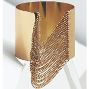 chain wide band cuff
