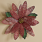 poinsettia wall plaque