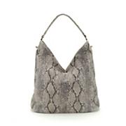 Snakeskin Print Hobo Bag