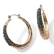 crystal hammered metal hoops