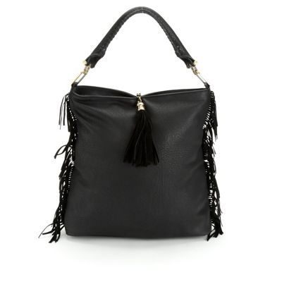 Side Fringe Hobo Bag by Sondra Roberts
