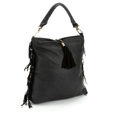 Side Fringe Hobo Bag by Sondra Roberts