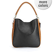 two tone hobo bag