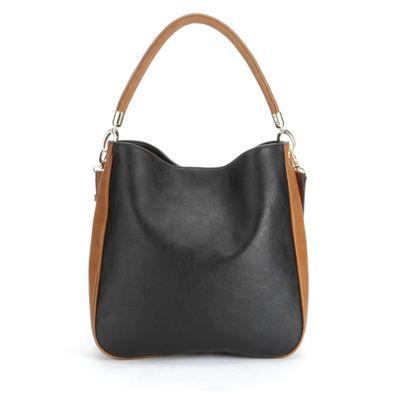 Two-Tone Hobo Bag