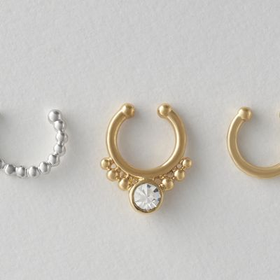 3-Piece Non-Pierce Nose Ring Set