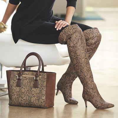 City Girl Bag and Thigh High Boot