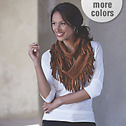 faux suede infinity scarf