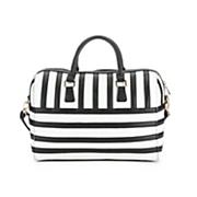 Black & White Striped Satchel