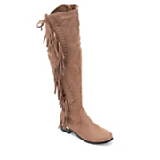 fringe over the knee boot by lady couture