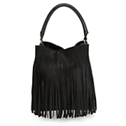 full fringe hobo bag