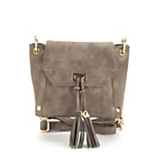 circle square tassel cross body bag