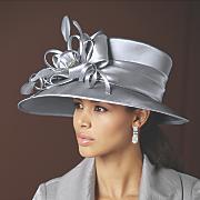 satin lampshade hat