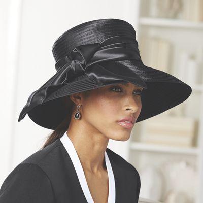 Satin Braid Trim Hat