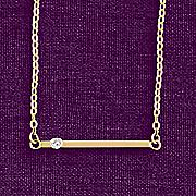 10k gold diamond bar necklace