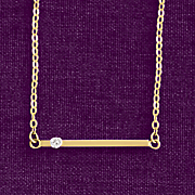 10k gold diamond bar necklace