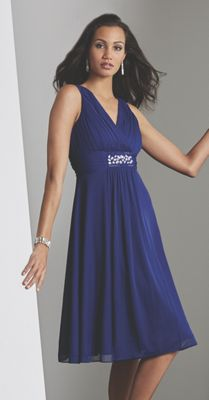 Cobalt Beaded Party Dress
