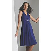 Cobalt Beaded Party Dress