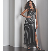 Starburst Beaded Gown Mesh Wrap Bracelet and Libra Sandal by Annie