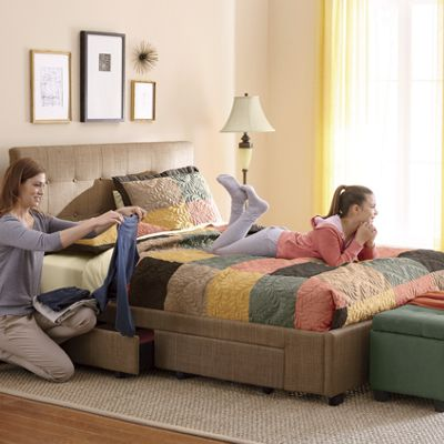 Double-Drawer Queen Bed