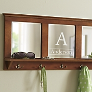 personalized mirrored wall hooks