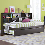 Trundle Bed W/Bookcase
