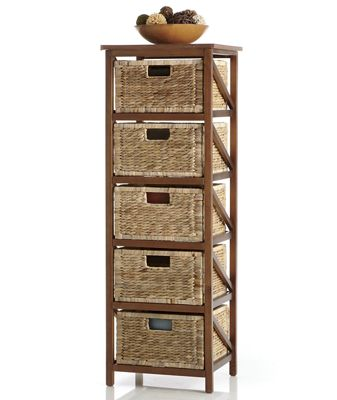 5 Woven Basket Drawers