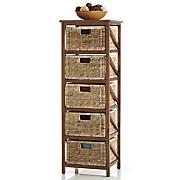 5 woven basket drawers