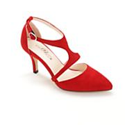 Split Top T-Strap Shoe by Midnight Velvet