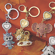 Animal Glitter Keychain Clock NP