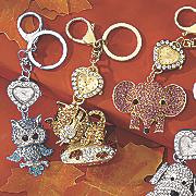 Animal Glitter Keychain Clock NP