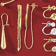 bar chain earrings