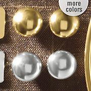 10k gold button post earrings