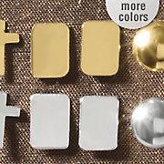 10k gold rectangle post earrings