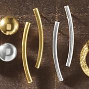 10k gold curve post earrings