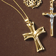 10k gold cross pendant