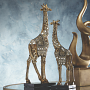 set of 2 giraffe figurines