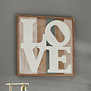 Hand-Painted Wooden Love Art
